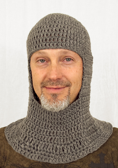 Medieval Knight Chainmail Coif Hat - Click Image to Close